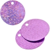 Sequins Hologram 40mm 4mm Hole Round Pink
